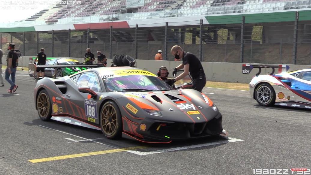 Ferrari 488 Challenge Evo 2020 circuito Mugello