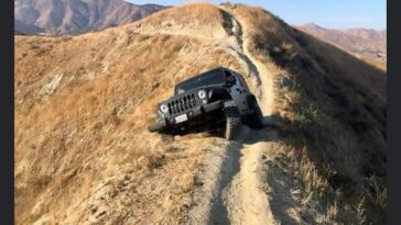 Jeep Wrangler bloccata