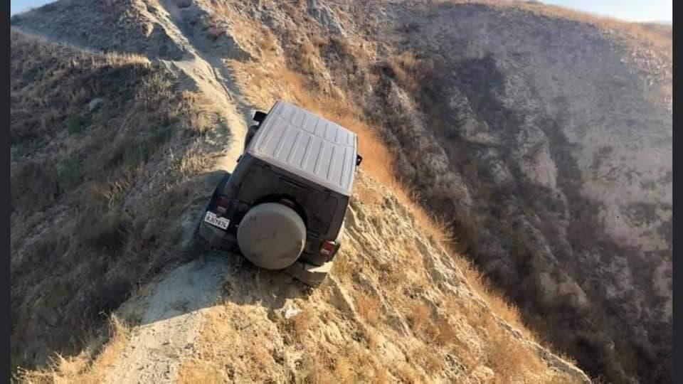 Jeep Wrangler bloccata