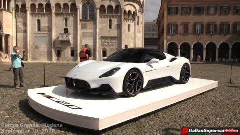Maserati MC20 show car Modena
