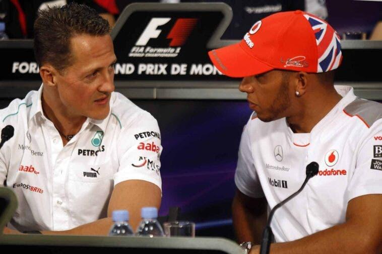 Schumacher e Hamilton