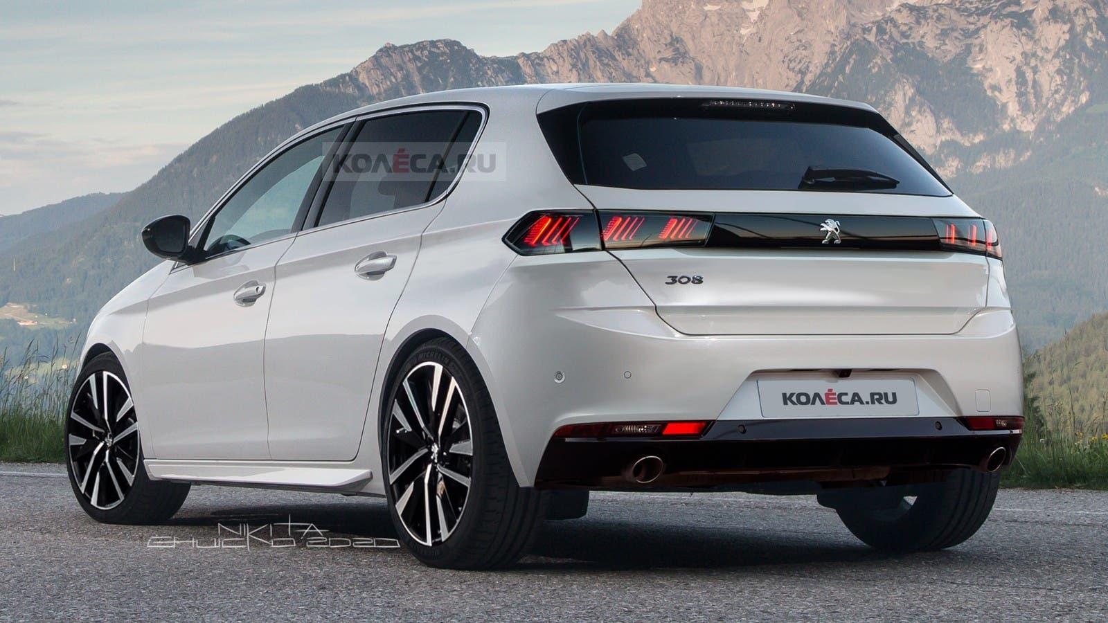 Nuova Peugeot 308 render