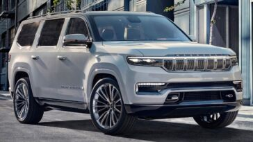 Nuovo Jeep Grand Wagoneer Trackhawk render