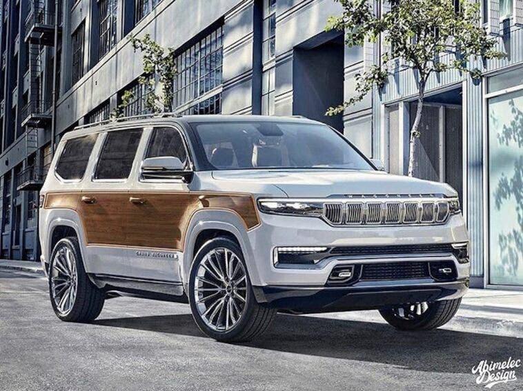 Nuovo Jeep Grand Wagoneer legno render