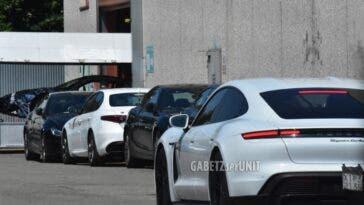 Porsche Taycan nello stabilimento Maserati