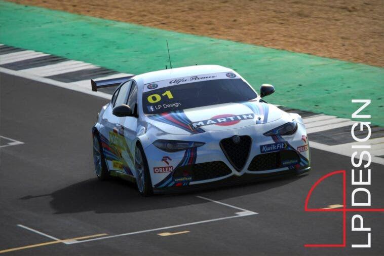 Alfa Romeo Giulia BTCC Martini Racing render