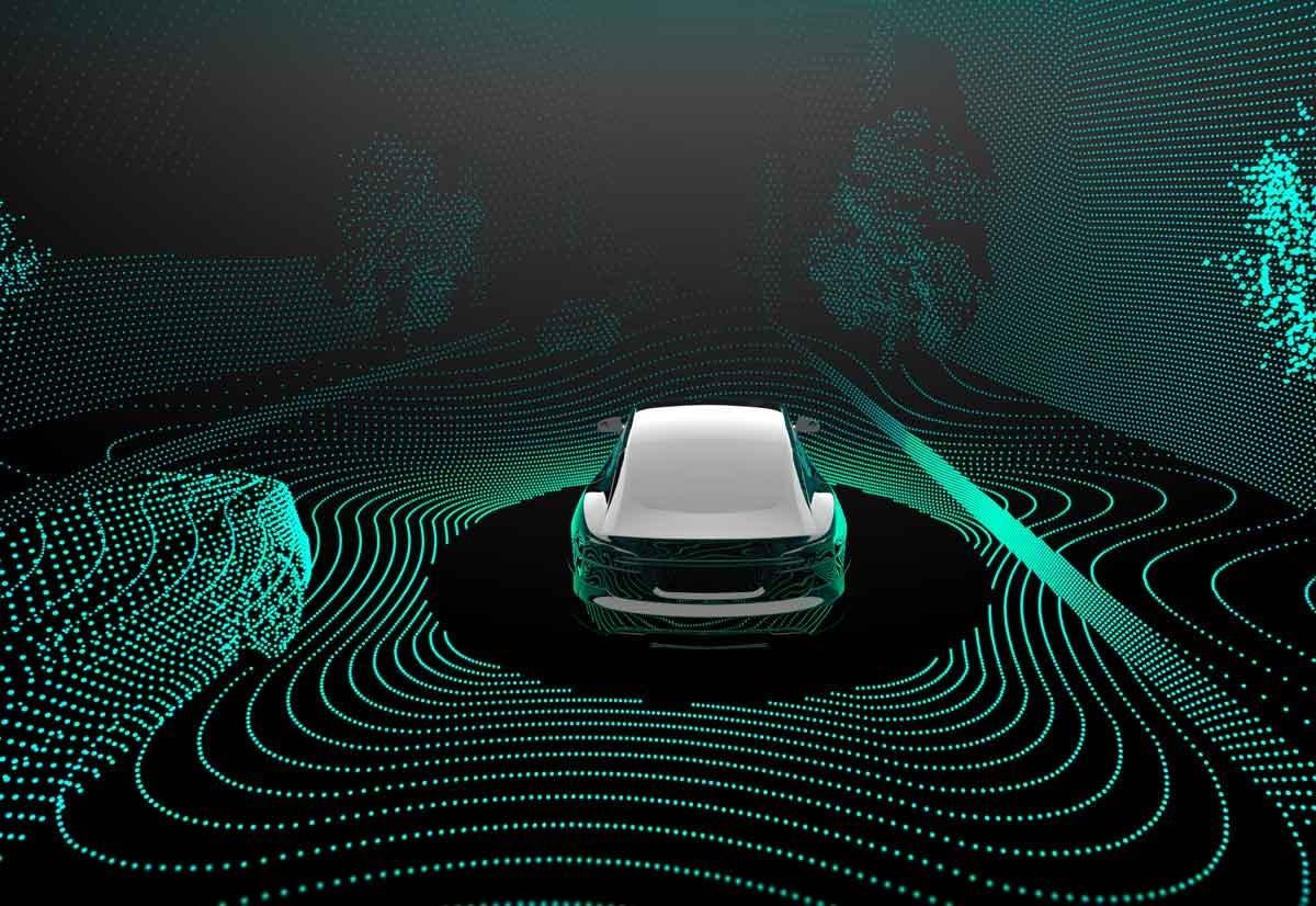 Auto a guida autonoma LiDAR