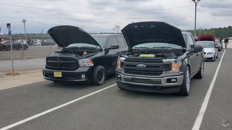 Ram 1500 modificato vs Ford F-150 2020 drag race