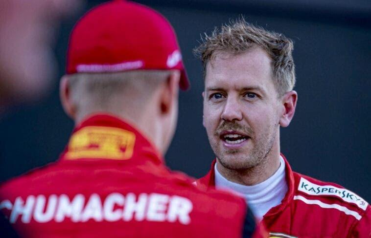 Sebastian Vettel e Mick Schumacher