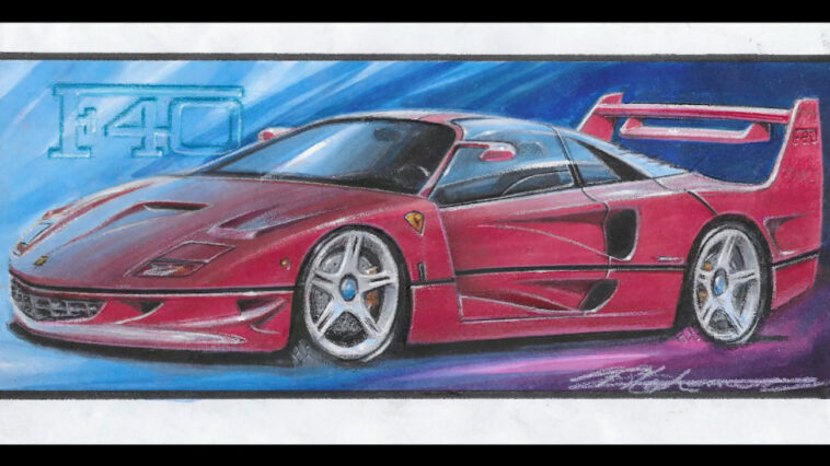 Ferrari F40 moderna Frank Stephenson