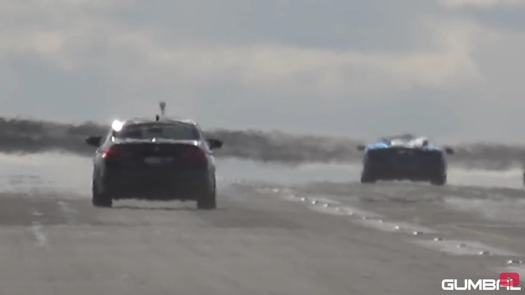 Ferrari F8 Tributo vs BMW M5 F90 drag race