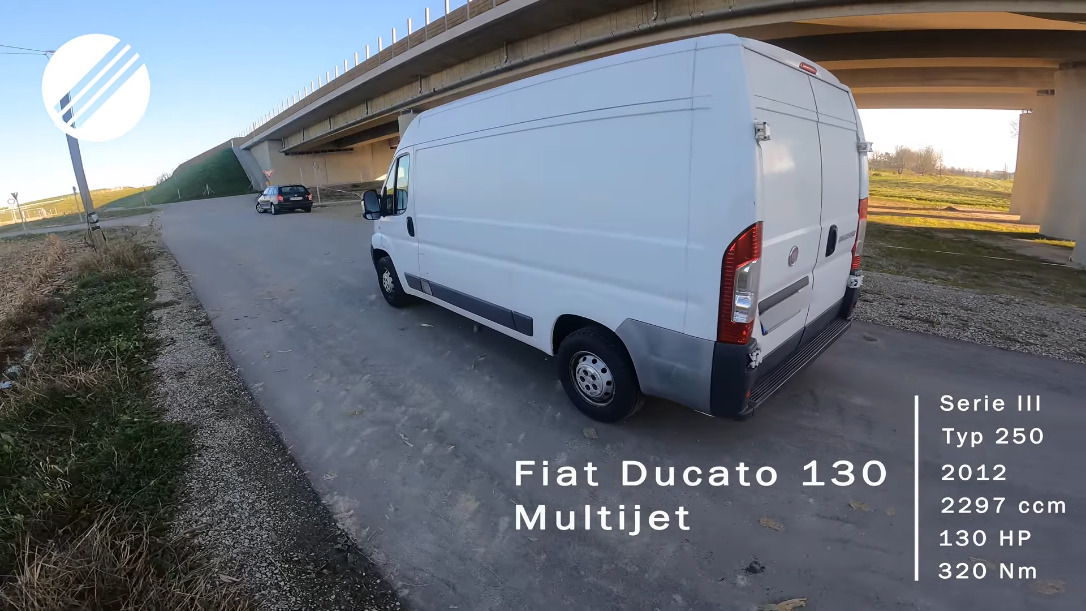 Fiat Ducato 2012 test velocità