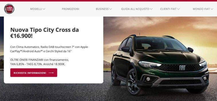 Promozione Fiat Tipo City Cross da € 16.900