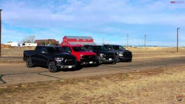 Ram 1500 TRX vs Ford F-150 Raptor drag race