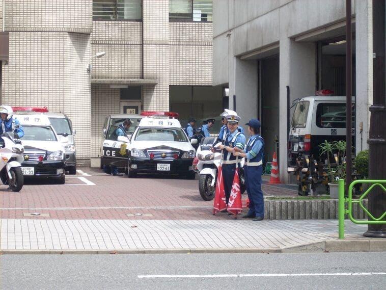 Rubare Auto Polizia Giapponese