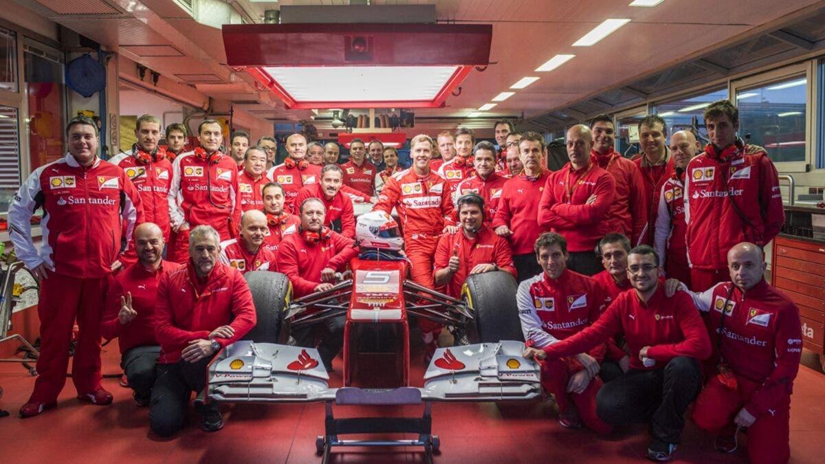 Vettel Ferrari 2014