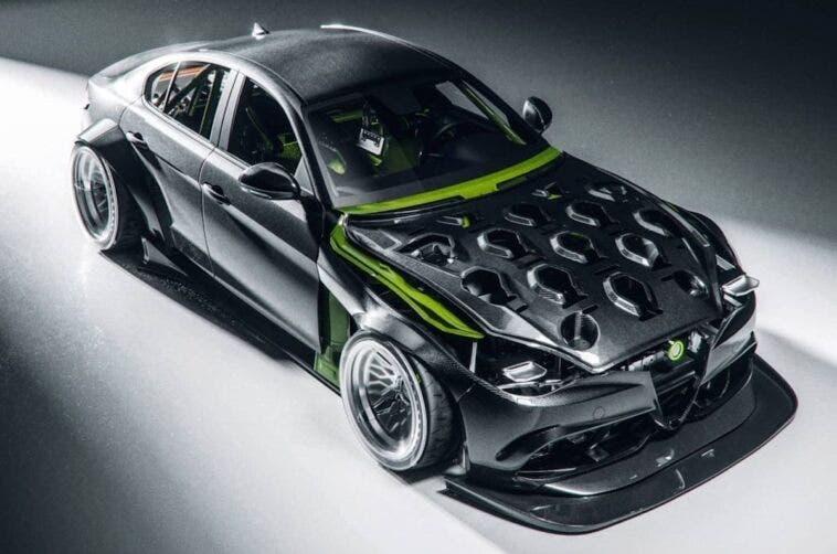 Alfa Romeo Giulia carbonio render