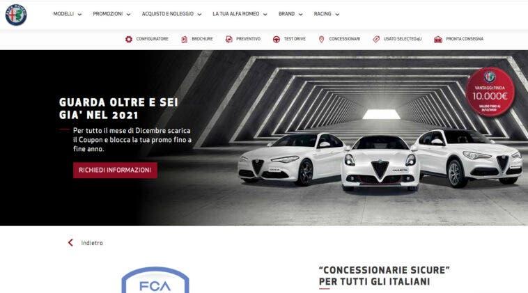 Coupon 10.000 euro Alfa Romeo con finanziamenti