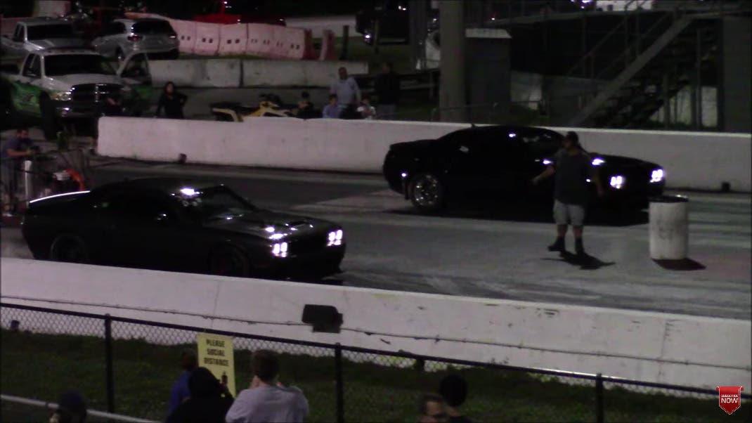 Dodge Challenger SRT Demon vs Hellcat vs Corvette vs Mustang drag race