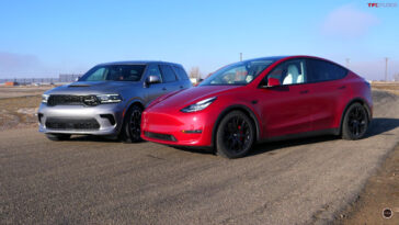 Dodge Durango SRT Hellcat vs Tesla Model Y Performance