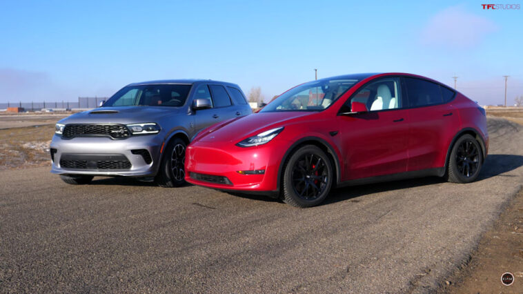 Dodge Durango SRT Hellcat vs Tesla Model Y Performance