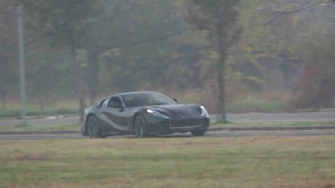 Ferrari 812 GTO nuovo avvistamento foto spia