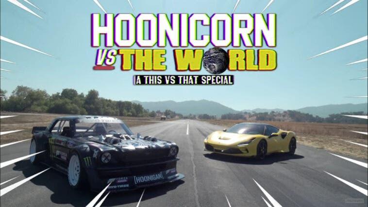 Ferrari F8 Tributo vs Hoonicorn Mustang drag race