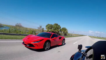 Ferrari F8 Tributo vs Porsche 911 Turbo S 992 drag race