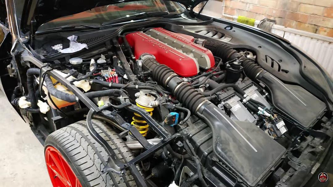 Ferrari GT4Lusso distrutta