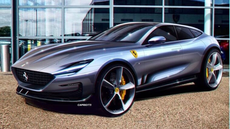 Ferrari Purosangue shooting brake render
