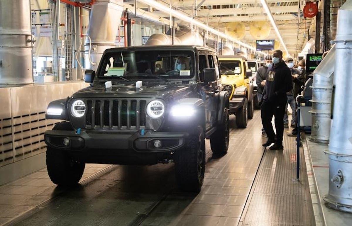 Jeep Wrangler 4xe produzione Toledo