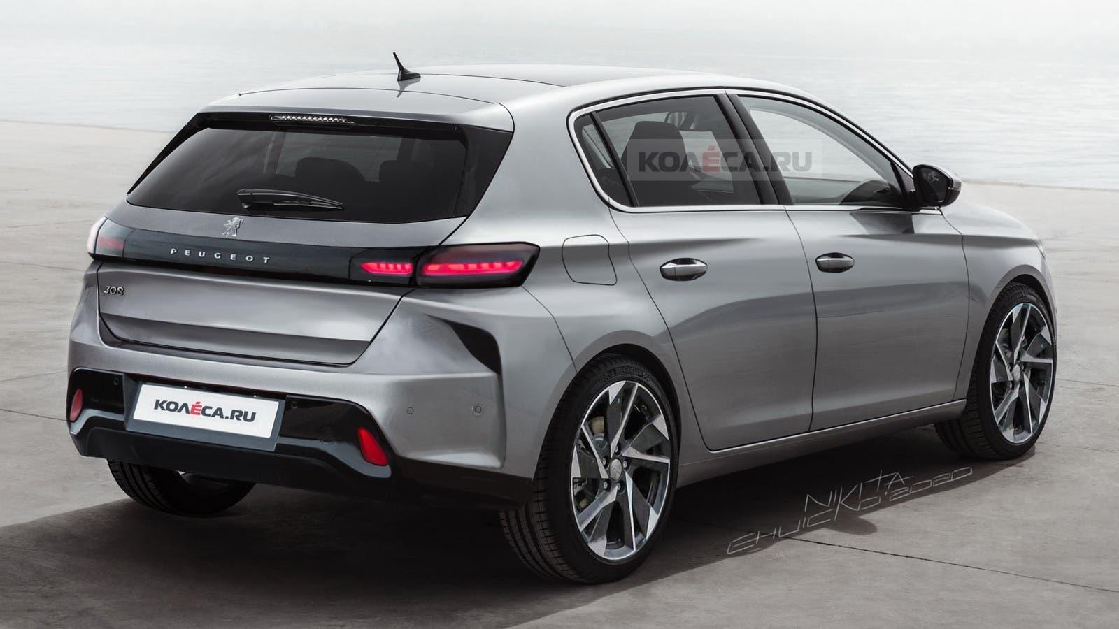 Nuova Peugeot 308 render Kolesa
