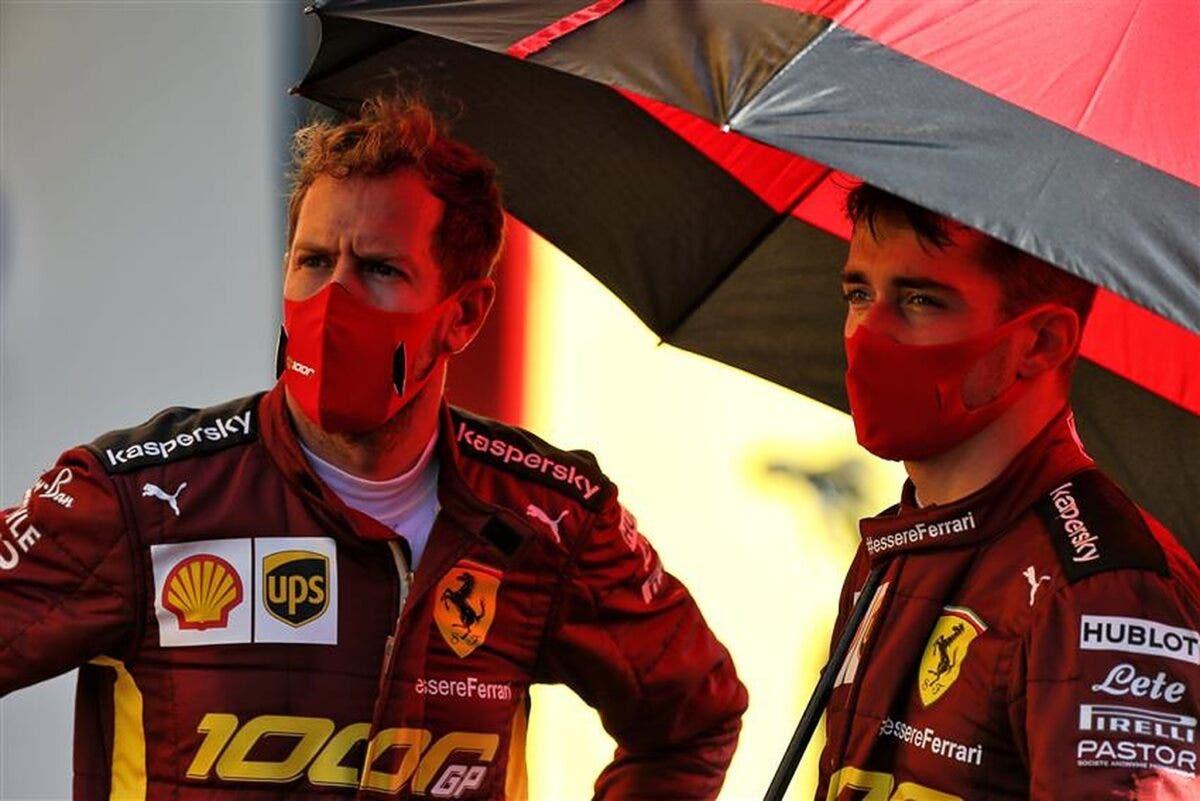 Leclerc e Vettel