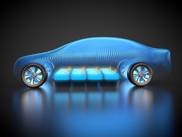 auto elettrica batteria