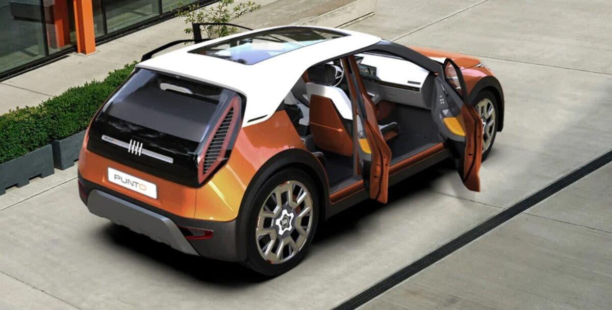 fiat punto 2022 concept esterni auto 4 porte