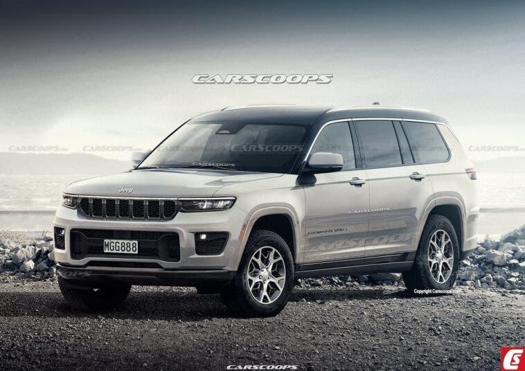 Jeep Grand Cherokee 2021 nuovi render