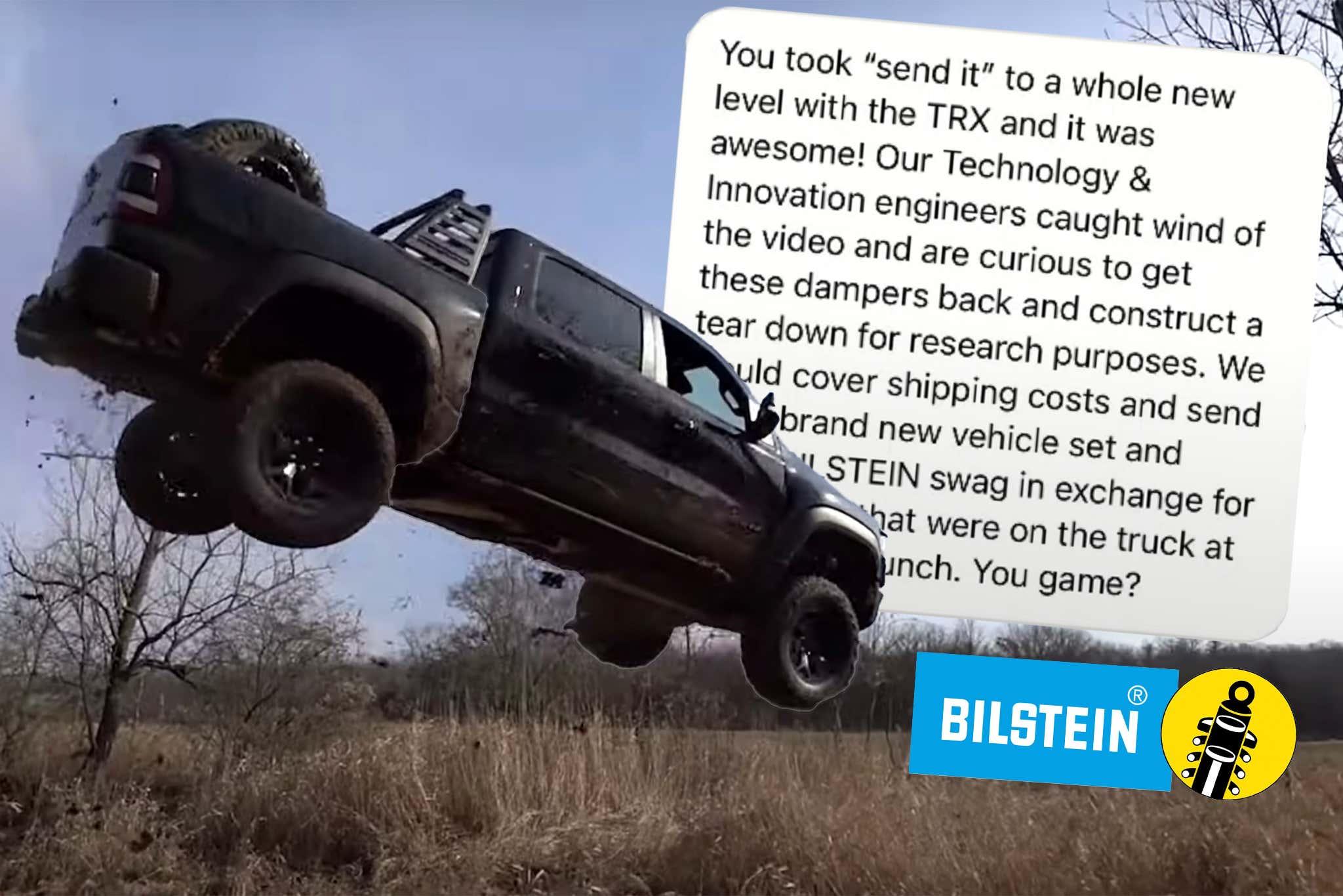 Ram 1500 TRX messaggio Bilstein