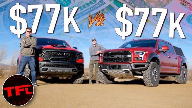 Ram 1500 TRX vs Ford F-150 Raptor TFL
