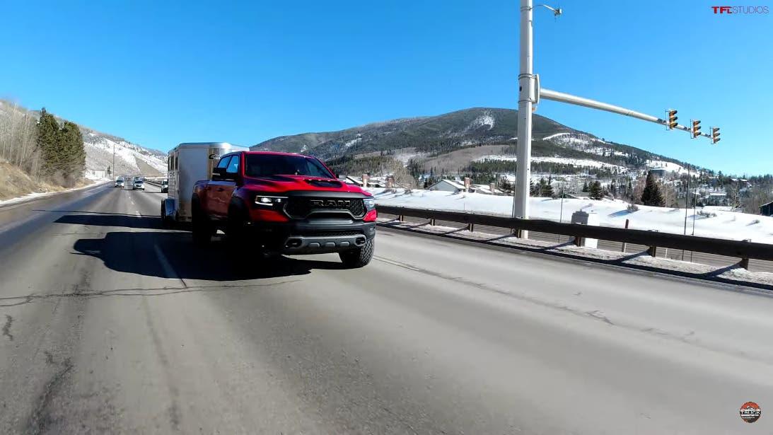 Ram 1500 TRX vs Ford F-150 Raptor test traino