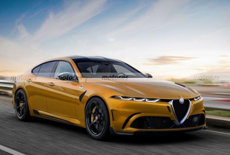 Alfa Romeo berlina E render