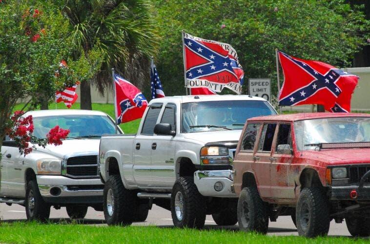 Carolina del Nord targhe bandiera confederata