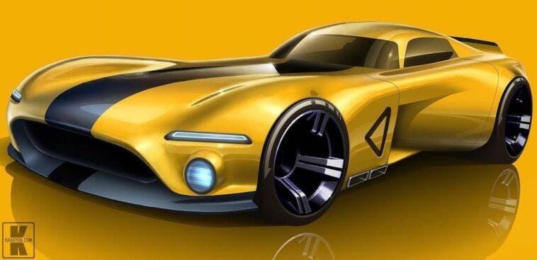 Dodge Viper elettrificata render