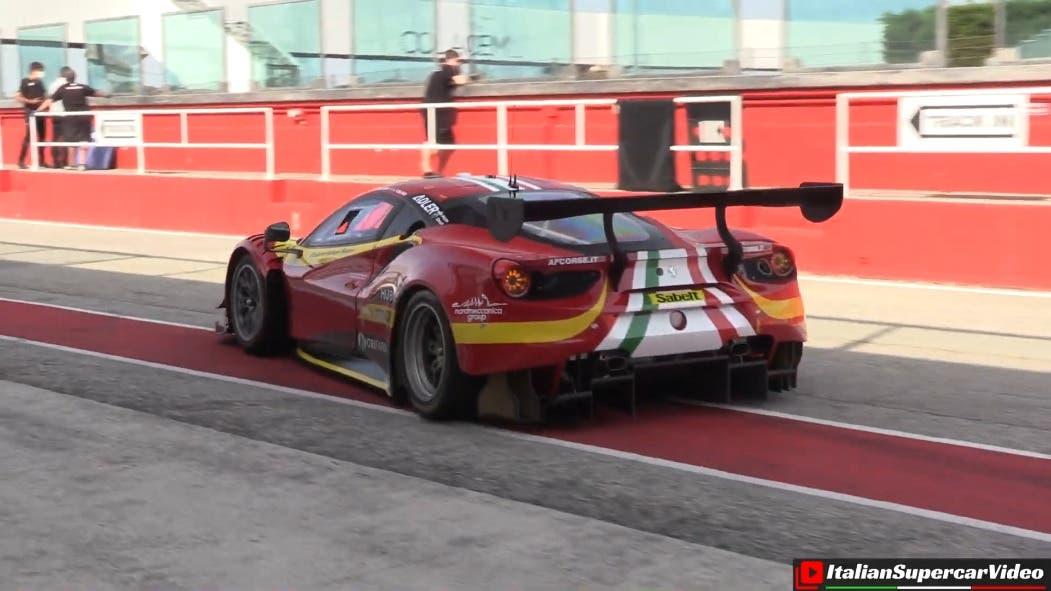 Ferrari 488 GT3 Evo circuito Misano