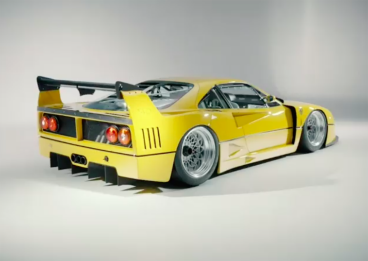 Ferrari F40 LM sospensioni pneumatiche