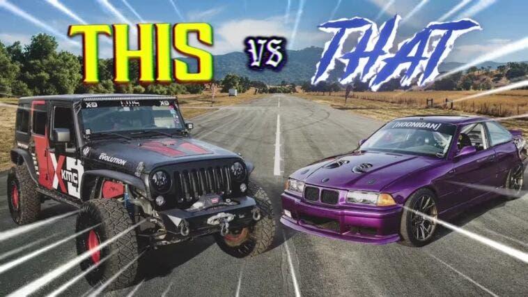 Jeep Hemi vs BMW M3 modificata drag race