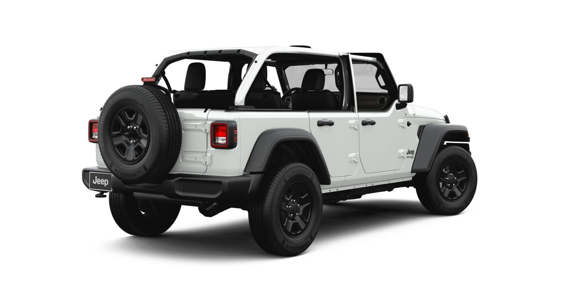 Jeep Wrangler JL mezze porte