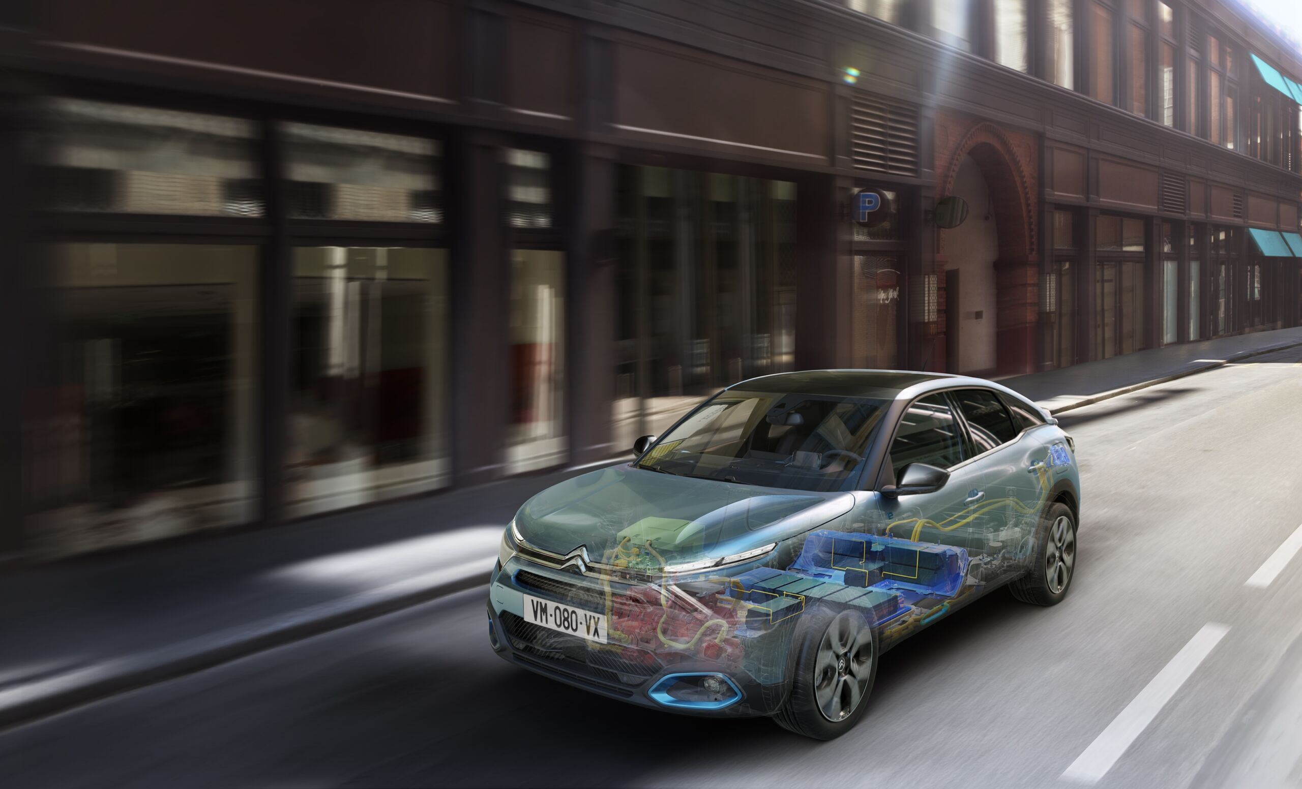 Nuova Citroën e-C4 simulatore autonomia