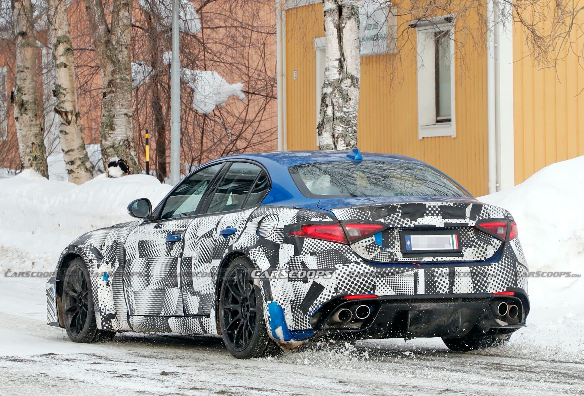 Nuova Maserati GranTurismo prototipo corpo Giulia foto spia