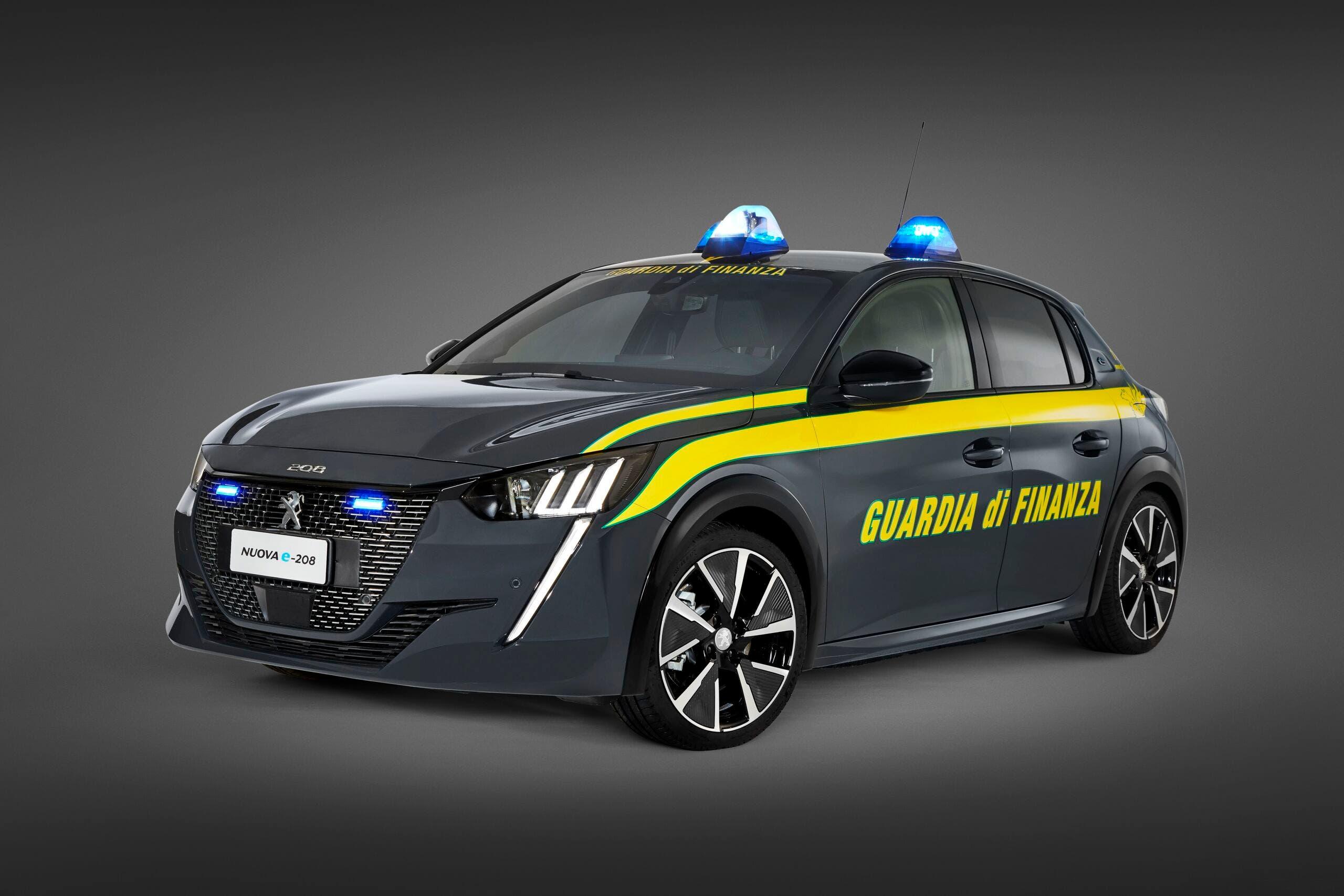Peugeot e-208 Guardia di Finanza