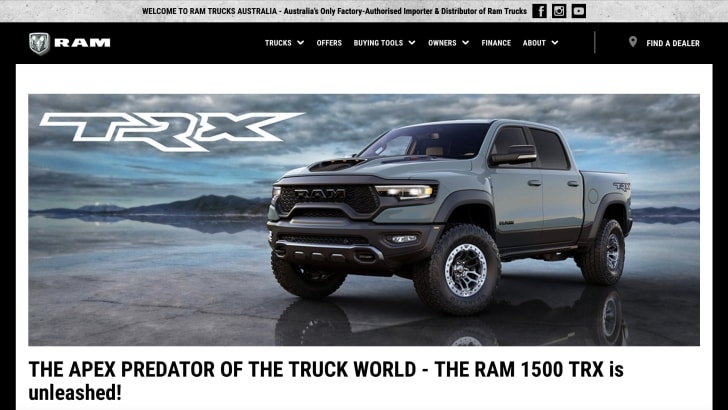 Ram 1500 TRX Australia